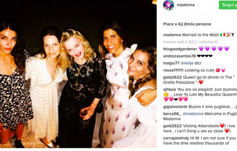 Madonna festeggia il suo compleanno in Puglia