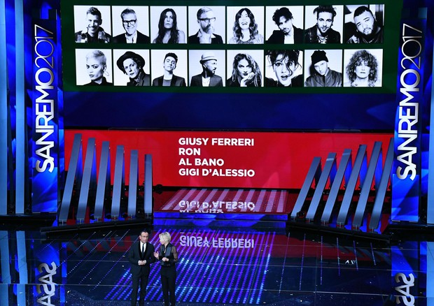 Sanremo – Eliminati Al Bano, D'Alessio, Ferreri e Ron. All'Ariston il pubblico protesta