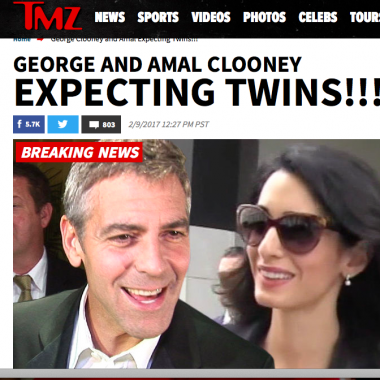 George Clooney e Amal aspettano due gemelli