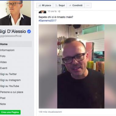 """Sanremo – Bufera sugli esclusi illustri. D'Alessio: """"Sapete chi ci è rimasto male? … sto …"""""""