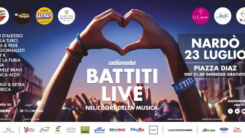 Battiti Live domenica a Nardò