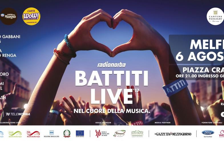 Radionorba Battiti Live domenica a Melfi