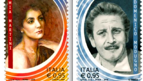 Musica – Un francobollo per Domenico Modugno e Mia Martini