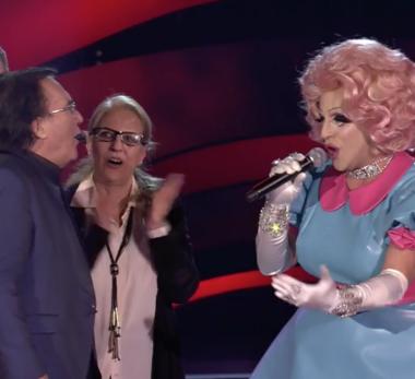 Musica – The Voice: Al Bano sceglie la drag queen pugliese nel suo team