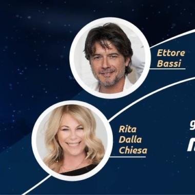 """Rita Dalla Chiesa ed Ettore Bassi in """"Voci della luna"""""""