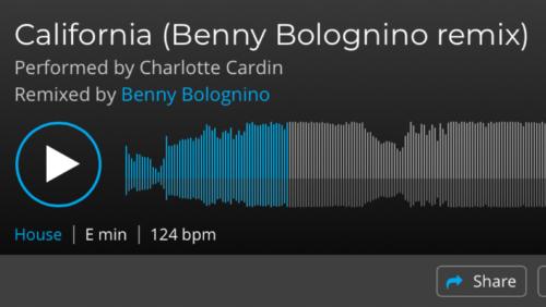 """Ecco """"California Remix""""di Benny Bolognino"""