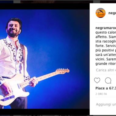 Negramaro, la band si stringe intorno al suo chitarrista
