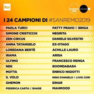 Sanremo - Ecco tutti i big del festival