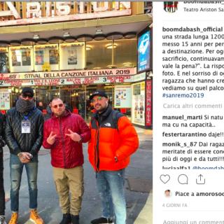 #Sanremo 2019 - I Boomdabash portano il reggae all'Ariston