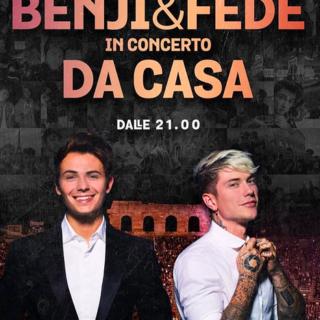 Musica - Benji & Fede in concerto da casa