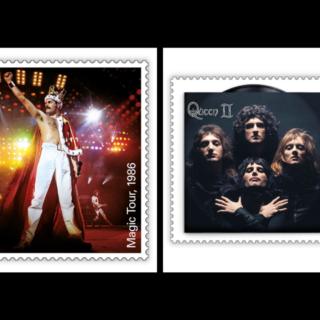 I Queen sui francobolli di sua Maestà