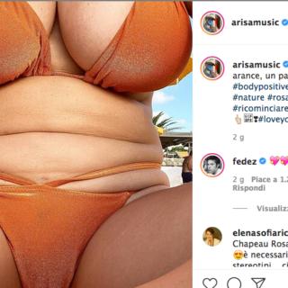 Arisa contro il body shaming