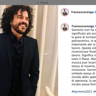 """Sanremo 2021 - Francesco Renga: """"Tornare al festival è ripartire insieme"""""""