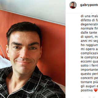 Gabry Ponte in ospedale per un intervento al cuore