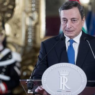 +++Mario Draghi annuncia il nuovo governo+++