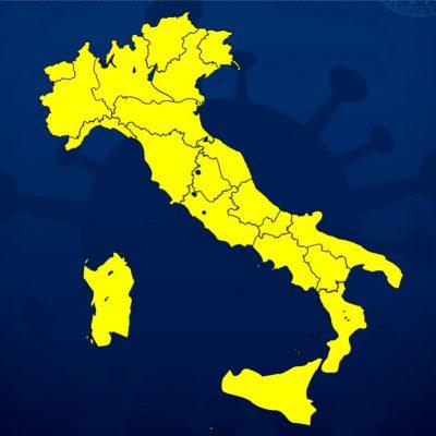 COVID-19 - Da oggi tutta Italia in zona gialla