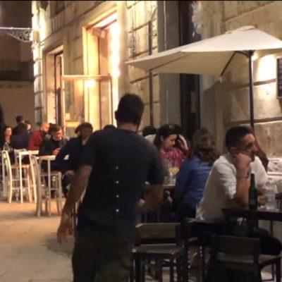 Sabato sera a Lecce, ritorno alla normalità