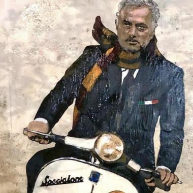 Roma è già pazza di Mourinho: in città spunta un murale