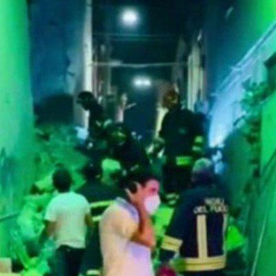 Crolla palazzina a Barletta, 3 feriti