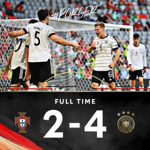 Europei, la Germania travolge il Portogallo 4-2