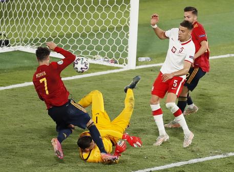 Europei, Spagna bloccata sul pareggio anche dalla Polonia: 1-1