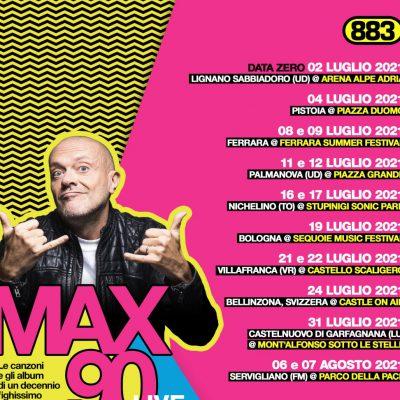 Max Pezzali festeggia gli anni 90 e annuncia le nuove date del tour