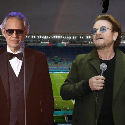 Totti, Nesta, Bocelli e Bono per l'apertura degli Europei a Roma