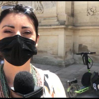 Da Ancona al Salento: il viaggio in monopattino di un vigile urbano di Venezia