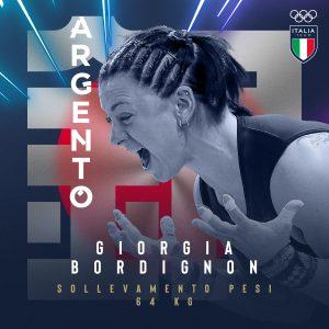 Giorgia Bordignon argento nel sollevamento pesi