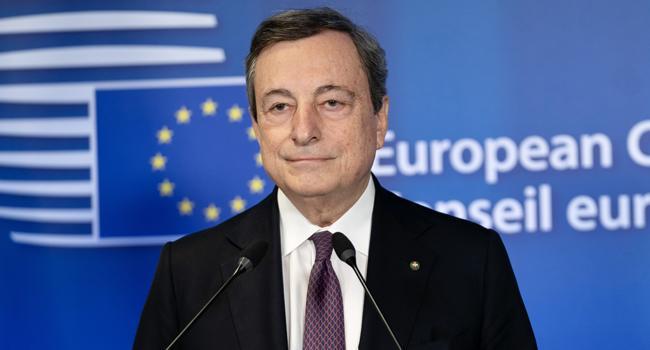 """Draghi lancia l'allarme: """"Dobbiamo fare di più per ridurre i cambiamenti climatici"""""""