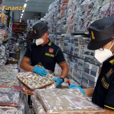 Biancheria contraffatta, sequestro per 35mila euro in una ditta di Putignano