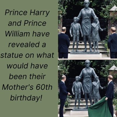 Lady D,  svelata la statua che la raffigura