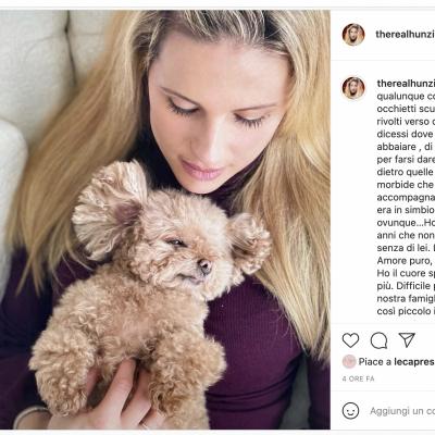 Michelle Hunziker straziata dal dolore per la perdita della sua cagnolina Lilly