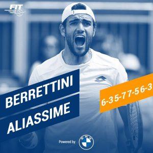 Wimbledon, Berrettini da record. Batte Aliassime e vola in semifinale