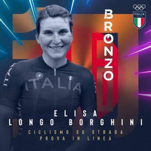 Olimpiadi, terza medaglia italiana. Longo Borghini bronzo nel ciclismo su strada femminile