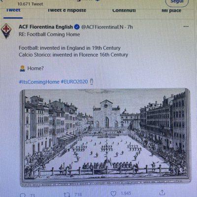 Il calcio è nato a Firenze, il tweet viola che toglie certezze all'Inghilterra