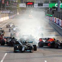 Silverstone, scintille Verstappen – Hamilton, gara sospesa