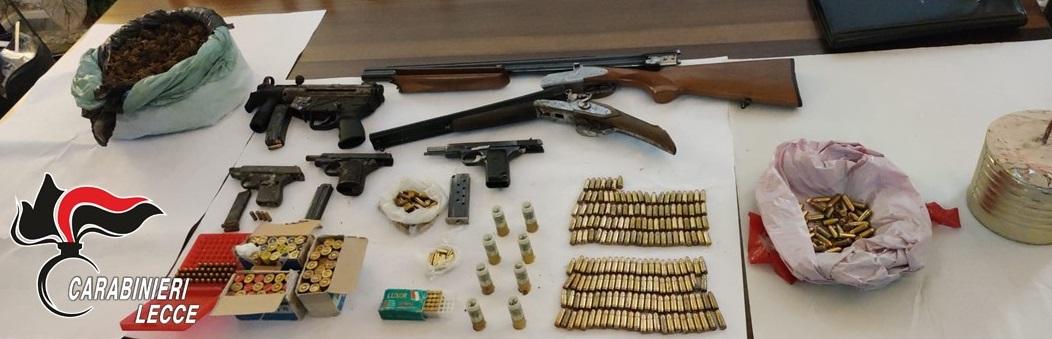 Armi e munizioni in casa, arrestato un 45enne di Trepuzzi