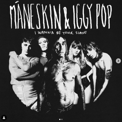 """Iggy Pop con I Maneskin in """"I wanna be your slave"""""""
