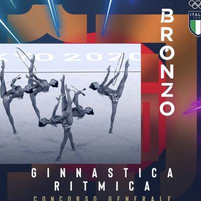 Le farfalle della ginnastica ritmica consegnano la medaglia n 40 all'Italia