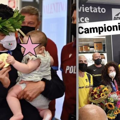 I campioni Palmisano e  Stano rientrati in Italia tra applausi e  cori