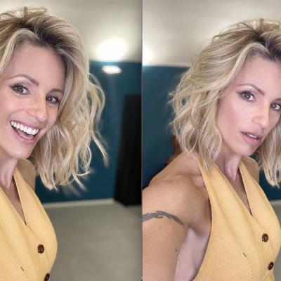 Michelle Hunziker taglia corto….. i suoi capelli e incoraggia al cambiamento