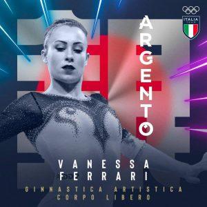 Olimpiadi, Vanessa Ferrari argento nella ginnastica, prova corpo libero