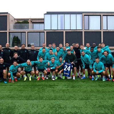 Inter, Eriksen torna ad Appiano Gentile. Commozione tra i compagni, lo staff e l'allenatore