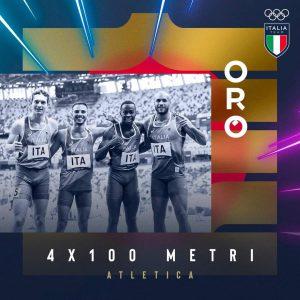Tokyo2020, nuovo oro per l'Italia nella staffetta 4x100