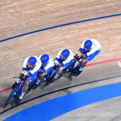 Tokyo 2020, Oro con record del mondo per l'Italia del quartetto ciclismo