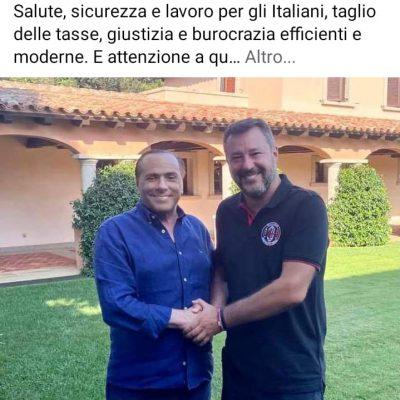 Salvini e Berlusconi cementano l'alleanza