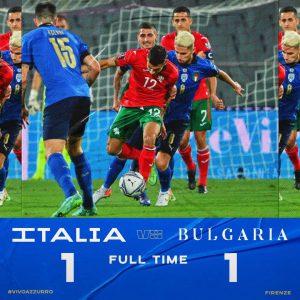 L'Italia riparte con un pareggio. Con la Bulgaria finisce 1-1