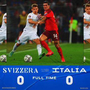 L'Italia non brilla e spreca. Con la Svizzera finisce 0-0, qualificazione al Mondiale ancora in bilico