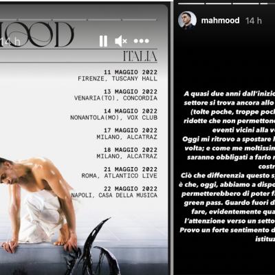 """Mahmood rinvia ancora il tour: """"Abbandonati dalle istituzioni"""""""